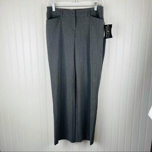 NWT Fashion Bug Gray Slacks Straight Leg Size 6
